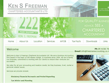Tablet Preview of freemanaccounting.co.nz